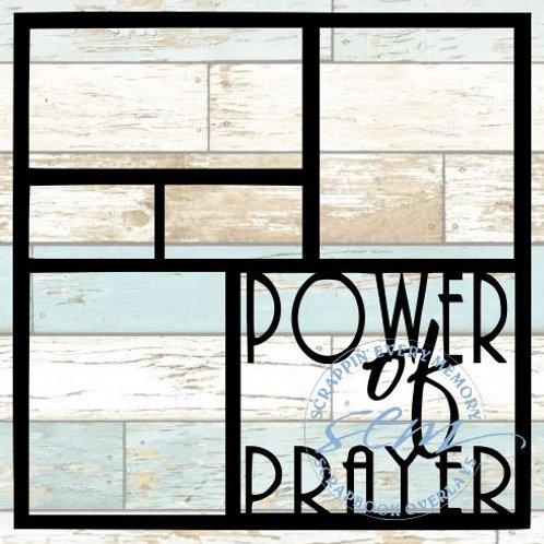 Power Of Prayer Scrapbook Overlay