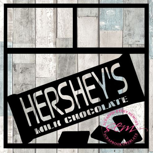 Hershey's Milk Chocolate Scrapbook Overlay