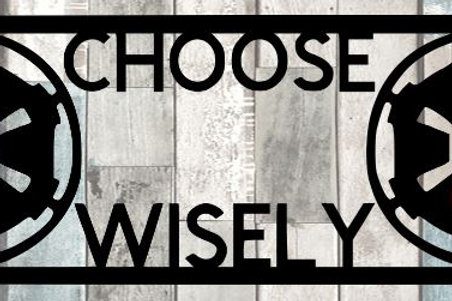 Choose Wisely Scrapbook Title