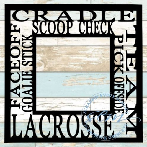Lacrosse Tag Text Scrapbook Overlay