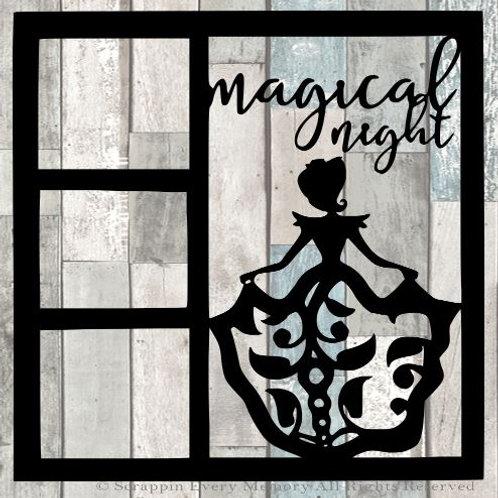 Magical Night Scrapbook Overlay