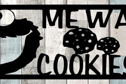 Me Want Cookiesss Scrapbook Title