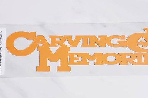 Carving Memories Scrapbook Deluxe Die Cut