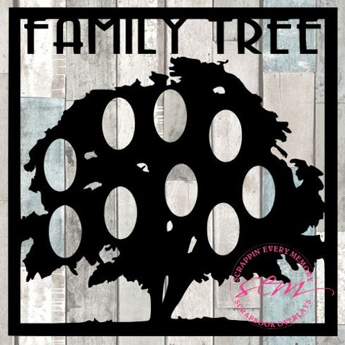 Family Tree Scrapbook Overlay