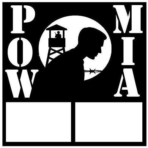 Pow Mia Scrapbook Overlay