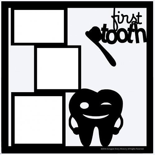 First Tooth Scrapbook Overlay