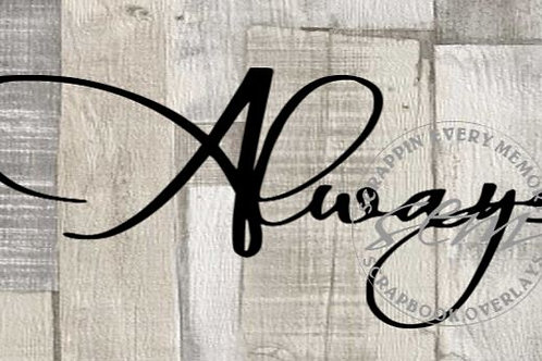 Always Scrapbook Page Script Single
