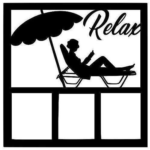 Relax Scrapbook Overlay
