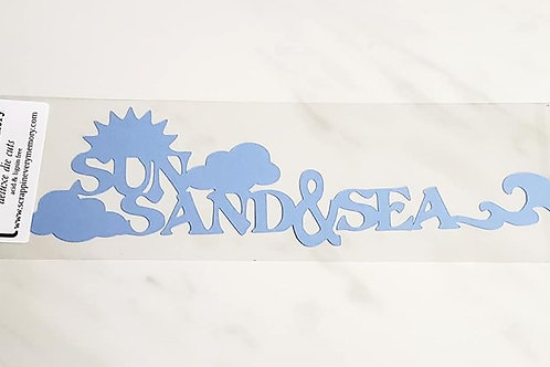 Sun Sand and Sea Scrapbook Deluxe Die Cut