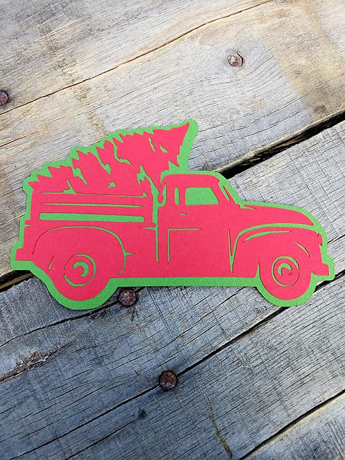 Christmas Truck Paper Piecing Die Cut