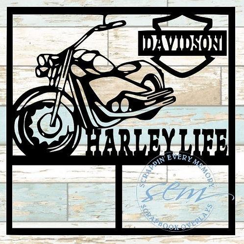 Harley Life Scrapbook Overlay