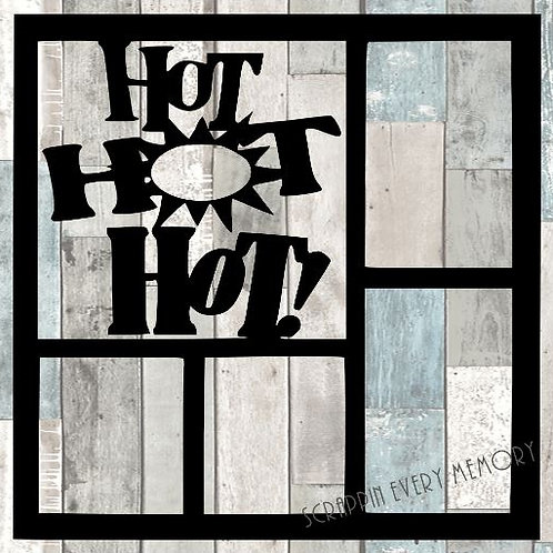 Hot Hot Hot Scrapbook Overlay
