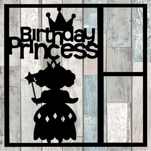 Birthday Princess Scrapbook Overlay