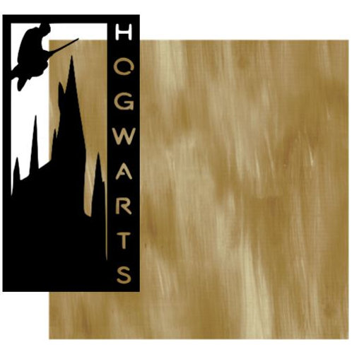 Hogwarts Vertical Scrapbook Title