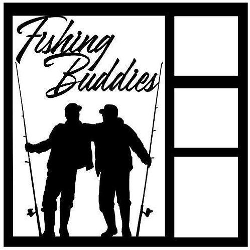 Fishing Buddies Scrapbook Overlay