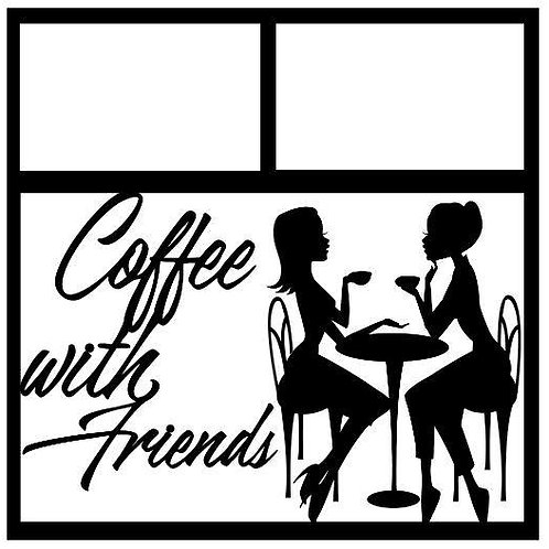 Coffee With Friends Scrapbook Overlay