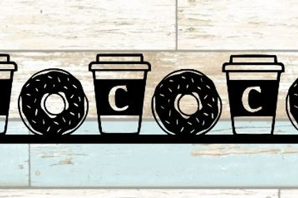Coffee & Donuts Scrapbook Border