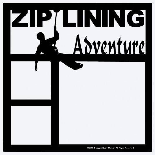 Ziplining Adventure Scrapbook Overlay