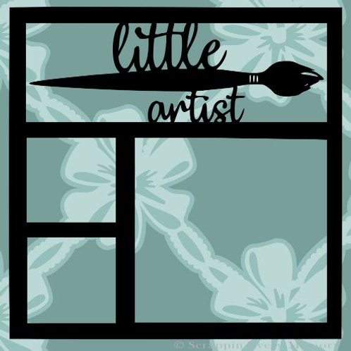 Little Artist Scrapbook Overlay