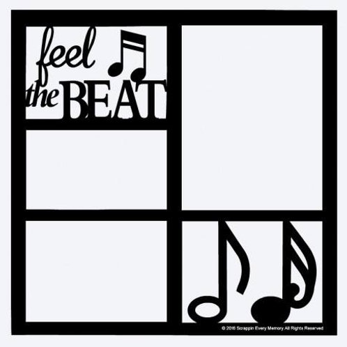 Feel The Beat Scrapbook Overlay