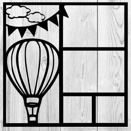 Hot Air Balloon Scrapbook Overlay