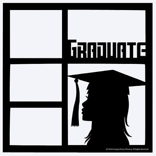 Female Graduate Scrapbook Overlay