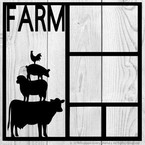 Farm Animals Scrapbook Overlay