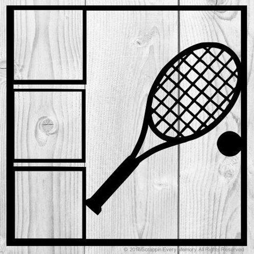 Tennis Scrapbook Overlay