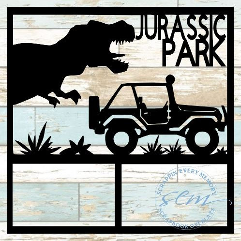 Jurassic Park Scrapbook Overlay