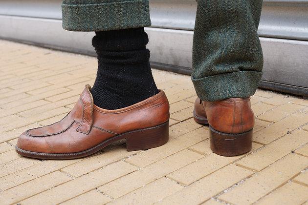 Cognac leren schoenen 70's 44