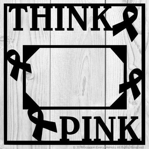 Think Pink Scrapbook Overlay