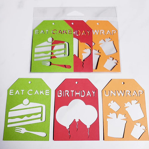 Birthday Deluxe Word Tags