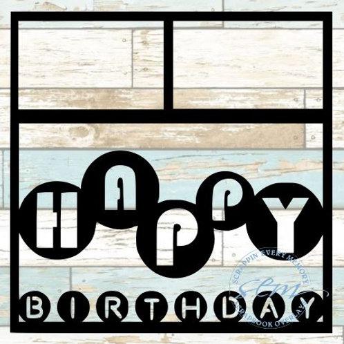 Happy Birthday Scrapbook Overlay