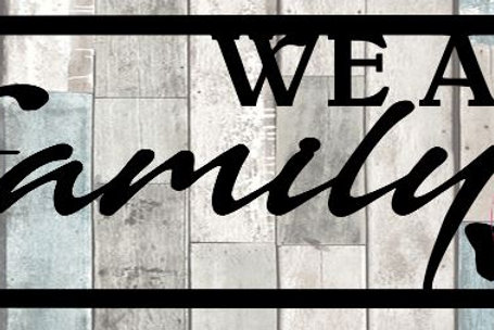 We Are Family Scrapbook Title