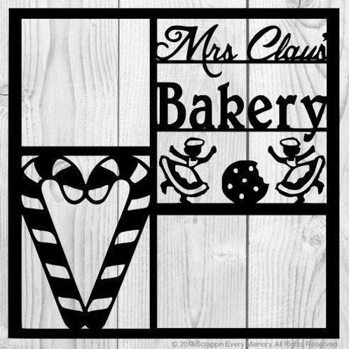 Mrs Claus' Bakery Scrapbook Overlay