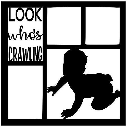 Look Who's Crawling Scrapbook Overlay