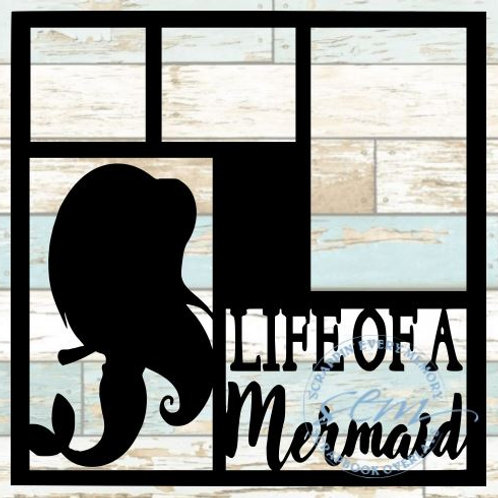 Life Of A Mermaid Scrapbook Overlay