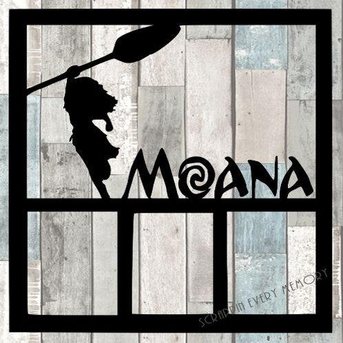 Moana Scrapbook Overlay