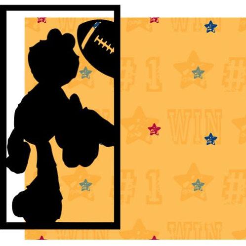 Football Elmo Vertical Scrapbook Title