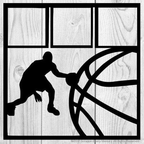 Basketball Scrapbook Overlay