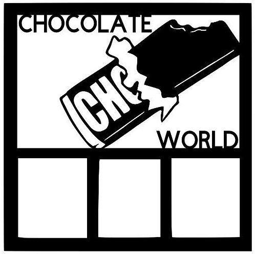 Chocolate World Scrapbook Overlay