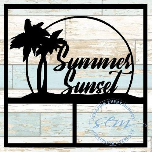 Summer Sunset Scrapbook Overlay