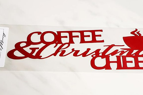 Coffee and Christmas Cheer Scrapbook Deluxe Die Cut
