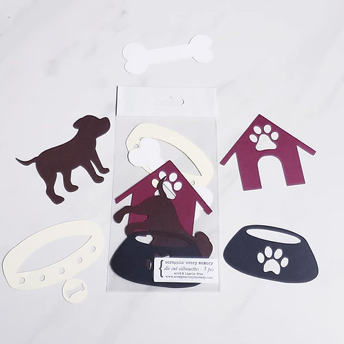 Dog Theme Die Cut Silhouette Mini Set