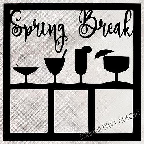 Spring Break Scrapbook Overlay