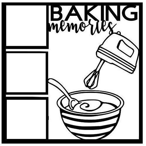 Baking Memories Scrapbook Overlay