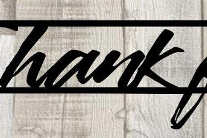 Thankful Scrapbook Page Title Single