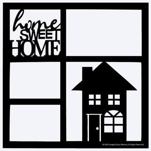 Home Sweet Home Scrapbook Overlay