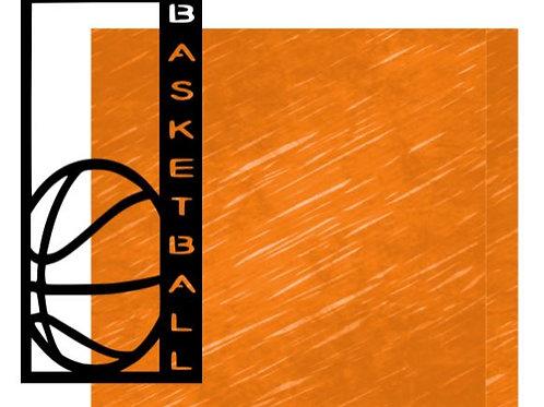 Basketball Vertical Scrapbook Title