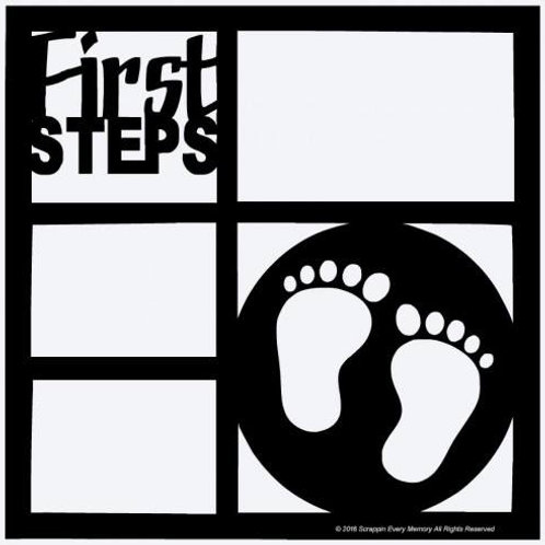 First Steps Scrapbook Overlay